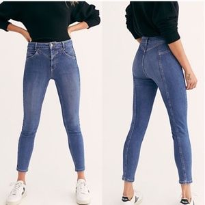 Free people Riley Seamed Skinny Jeans NWT